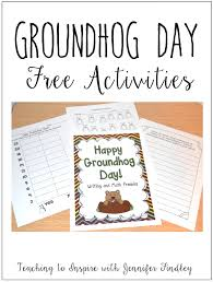 groundhog day activities free printables teaching to inspire