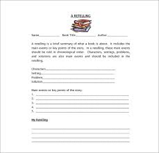 story report template 10 book report templates free sle exle format