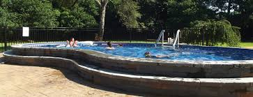 inground pools with diving board and slide interior design