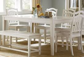 cottage white finish casual dining table set