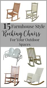 Outdoor Furniture Rocking Chair by 15 Farmhouse Style Rocking Chairs For Your Outdoor Spaces Twelve
