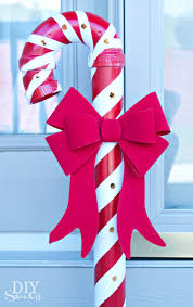 lighted pvc candy canes diy christmas home decor diy show off