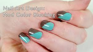 nail art tutorial mod color blocking video makeup files