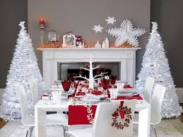 Home Decorating Ideas For Christmas by Amazing Silver And White Christmas Table Decorations 48 On Home