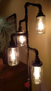diy mason jar light with iron pipe steunk industrial pipe l diy projects pinterest pipes