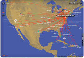 baltimore routes map airlines route map from baltimore washington