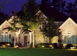 House Landscape Lighting Light Up Your Property After Brothers Lawn Landscape Corp