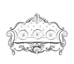 imperial royal sofa with classic ornaments stock vector image