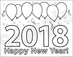 happy new year preschool coloring pages download happy new year coloring pages 2018 for new years eve
