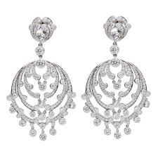 diamond chandelier earrings cartier diamond platinum chandelier earrings for sale at 1stdibs
