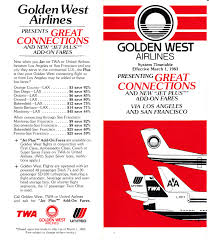 Piedmont Airlines Route Map by Airline Timetables Golden West Airlines March 1983
