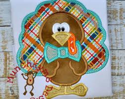 turkey applique etsy