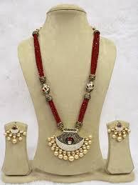 zircon necklace set images Babosasakhi kundan zircon necklace ruby bead bollywood indian jpg&a