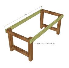 attaching legs to a table ana white happier homemaker farmhouse table diy projects