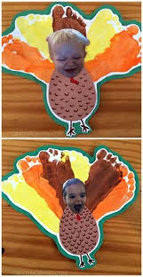 silly personalized footprint turkey thanksgiving craft for