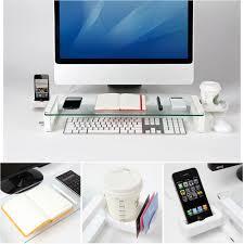 Nailed It Desk Organizer by Accessorygeeks Com White Monitor Stand Riser Desk Organizer W 3