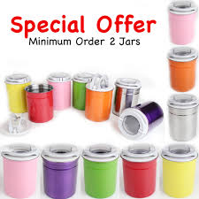 amazing new style kitchen jars canisters pots various colours with
