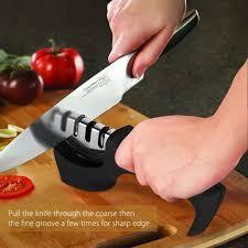 knife sharpener patec 3 stage tungsten diamond kitchen knife