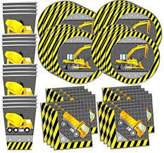 construction party supplies construction trucks birthday party supplies set plates