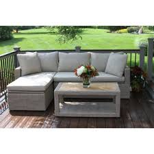 Teak Sectional Patio Furniture Broyhill Outdoor Furniture Wayfair