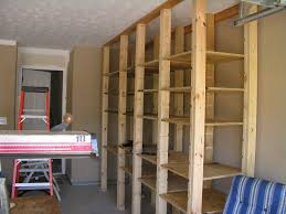 garage garage shelves in open style for surprising display