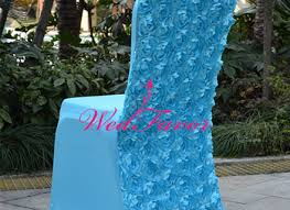 rosette chair covers 100pcs blue wedding spandex rosette chair covers lycra
