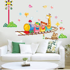 1 set 40 80 inch large size kids wall stickers hello kitty cartoon 764 y free shipping animal circus train children diy removable wall stickers parlor kids bedroom