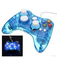 wired usb xbox 360 controller glow colorful led switch joypad