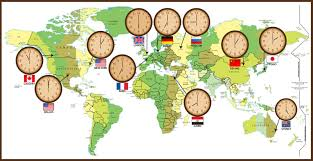 World Map Time Zone by Luv 2 Go World Time Zones