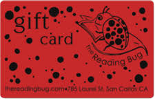 gift card the reading bug