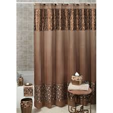 bathroom designs primitive country shower curtain full size bathroom designs brown fabric shower curtain idea with square motifs bottom and