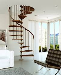 stair classy white spiral staircase decorating design ideas for