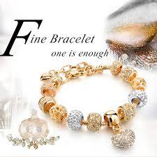 crystal heart charm bracelet images Crystal heart bead charm bracelet ready made suits jpg