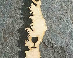 Wine Glass Keychain Vancouver Island Etsy
