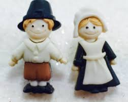 thanksgiving pilgrim figurines thanksgiving pilgrim etsy