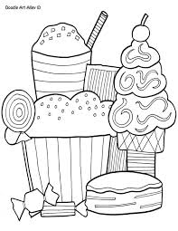 Free Doodle Art Coloring Pages Funycoloring Food Color Pages