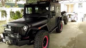 modified mahindra jeep mahindra thar 2017 best modification youtube