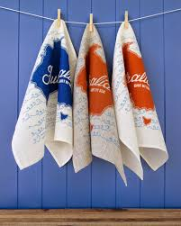 Now Designs Kitchen Towels Yardage Design Hand Printed Fabric And Homewares