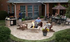 Rumblestone Fire Pit Insert by How To Build A Custom Fire Pit In One Day The Home Depot Community
