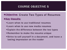 Example Objectives In Resume by Professional And Technical Writing Objectives