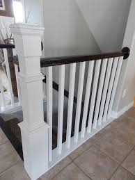 Stair Base Molding by Remodelaholic Stair Banister Renovation Using Existing Newel