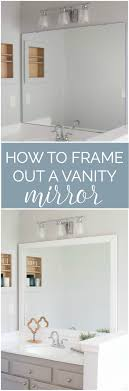 cheap bathroom vanity ideas how to frame a bathroom mirror easy diy project bathroom