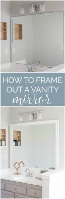 cheap bathroom mirror how to frame a bathroom mirror easy diy project bathroom