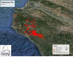 Fires In California Map Map Google Earth Infrared Map For The 98 420 Acre Soberanes Fire