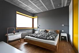 great contemporary bedroom design showcasing natural wood bed in