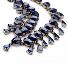 elegant choker necklace images Fashion elegant dark blue rhinestone waterdrop choker necklace jpg