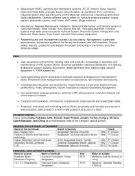 Mechanical Maintenance Resume Sample by Resume To Engineer Doc Pdf