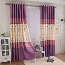 Purple Ombre Curtains Gray Striped Chenille Thermal Modern Ombre Curtain Panels