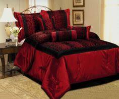 red bedroom sets flocking rose floral satin comforter set gothic bedrooms black
