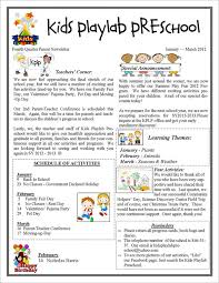 13 printable preschool newsletter templates u2013 free word pdf